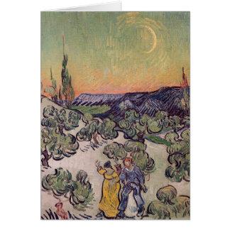 Cartes Paysage éclairé par la lune de Vincent van Gogh |,