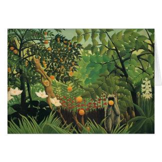 Cartes Paysage exotique de Henri Rousseau-