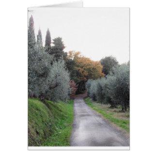 Cartes Paysage rural pendant l'automne. La Toscane,