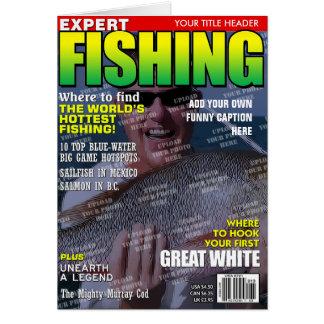 Cartes Pêche de la couverture de magazine personnalisée