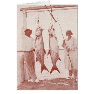 Cartes Pêcheurs à la ligne avec des tarpons, île de