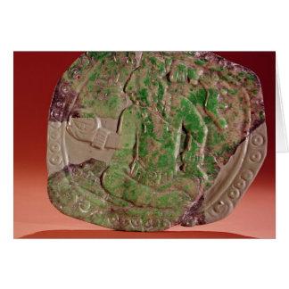 Cartes Pectoral d'un roi de site de Tikal, Guatemala