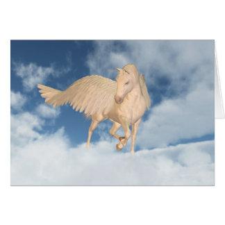 Cartes Pegasus regardant vers le bas par des nuages