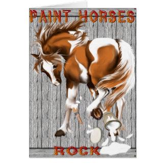 Cartes Peignez l'affiche de roche de chevaux