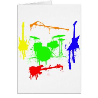 Cartes Peignez le graffiti de bande d'instruments de