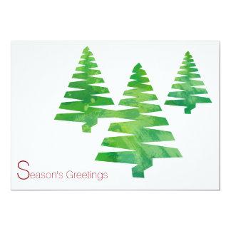Cartes peintes d'aquarelle de Noël de vacances