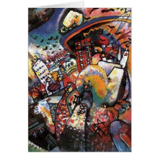 Cartes Peinture abstraite de paysage urbain de Kandinsky