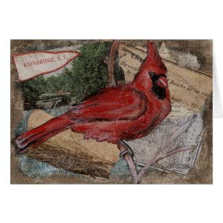 Cartes Peinture cardinale d'oiseau
