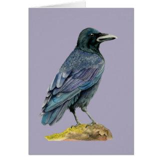 Cartes Peinture d'aquarelle de corneille