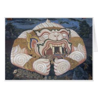 Cartes Peinture de mur thaïlandaise d'ogre