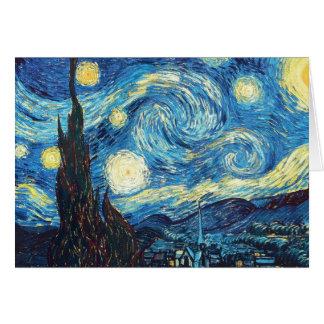 Cartes Peinture de nuit étoilée de Van Gogh
