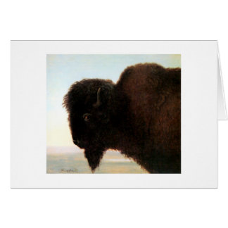 Cartes Peinture principale de bison d'Albert Bierstadt