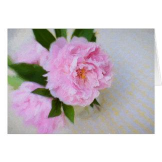 Cartes Peinture rose magnifique de pivoine