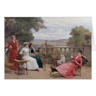 Cartes Peinture sur la terrasse