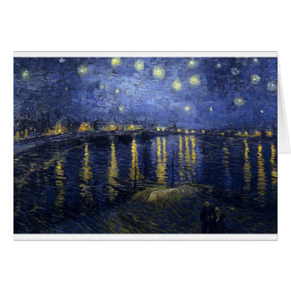 Cartes Peintures de Van Gogh : Nuit étoilée Van Gogh le