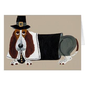 Cartes Pèlerin de thanksgiving de Basset Hound