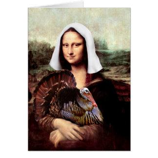 Cartes Pélerine de Mona Lisa de thanksgiving
