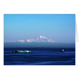 Cartes Péniche sur la mer de Salish