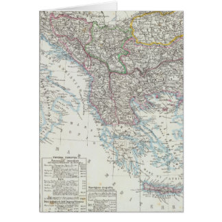Cartes Péninsule balkanique, Turquie, Serbie, l'Europe