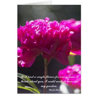 """Cartes """"Pensant à vous"""" fleur"""