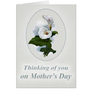 Cartes Pensant à vous le jour de mère, perte d'une mère
