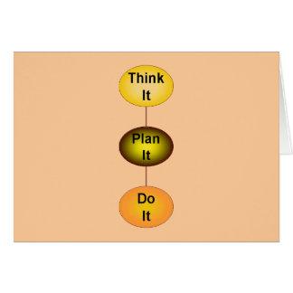 Cartes Pensez-le plan qu'il le font