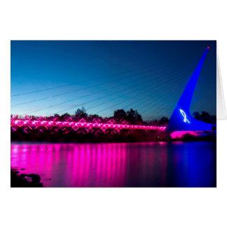 Cartes Pensez le pont rose en cadran solaire