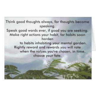 Cartes Pensez les bonnes pensées toujours…