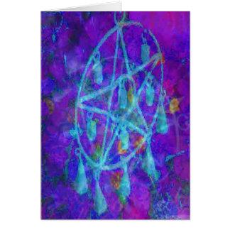 Cartes Pentagramme bleu Royale