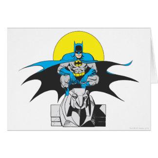 Cartes Perches de Batman sur le lion en pierre