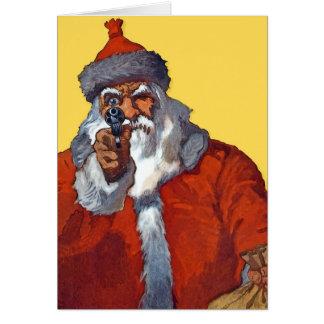 Cartes Père Noël :  Armé et prêt