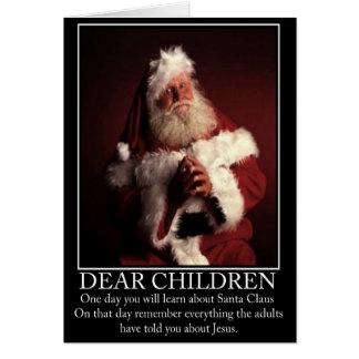 Cartes Père Noël athée drôle