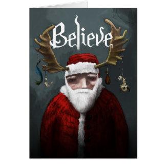 """Cartes Père Noël """"croient """""""