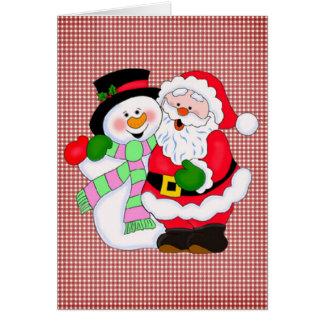 Cartes Père Noël et bonhomme de neige