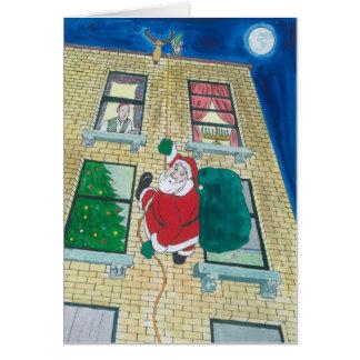 Cartes Père Noël et menorah