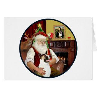 Cartes Père Noël et son Akita