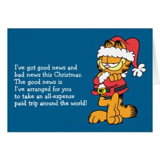 Cartes Père Noël Garfield