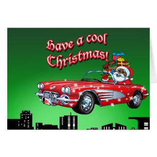 Cartes Père Noël noir