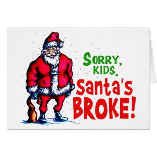 Cartes Père Noël s'est cassé