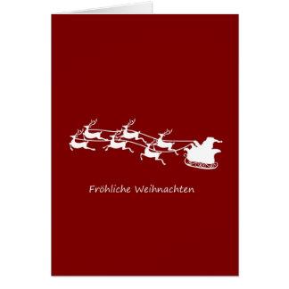 Cartes Père Noël sur Sleigh Fröhliche Weihnachten