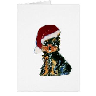 Cartes Père Noël Yorkie Poo