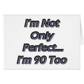 Cartes Perfectionnez 90 ans