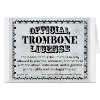 Cartes Permis de trombone