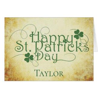 Cartes Personnalisez le Jour de la Saint Patrick heureux
