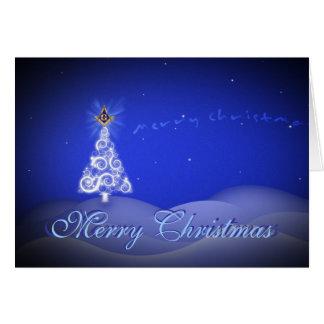 Cartes Personnalisez les salutations maçonniques de Noël