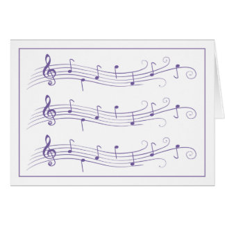 Cartes Personnels mis en rouleau pourpres de musique sur