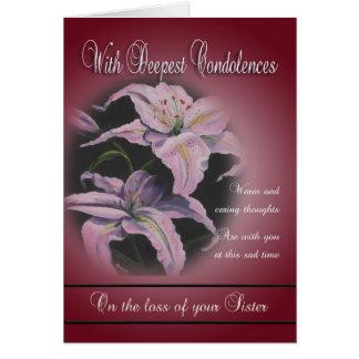 Cartes Perte de soeur - avec les condoléances les plus
