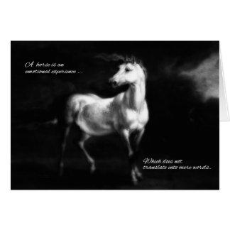 Cartes Perte de sympathie d'animal familier d'un cheval