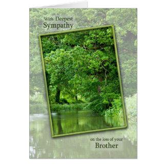 Cartes Perte de sympathie de frère, scène tranquille de