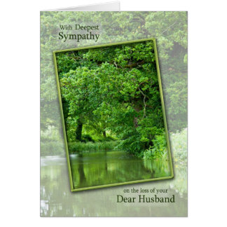 Cartes Perte de sympathie de scène tranquille de rivière